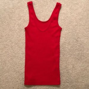 Forenza Red Ribbed Tank Top (S)